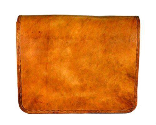 New Men/'s Vintage Brown USA Made Leather Messenger Laptop Satchel Shoulder Bag