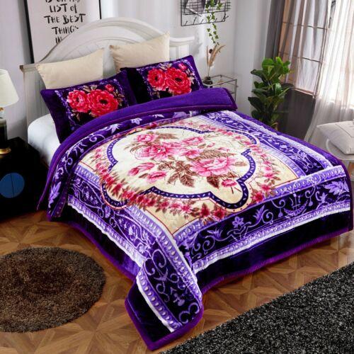 3 Piece Sherpa Plush Blanket Heavy Blanket Korean Style Soft Mink Blanket Winter