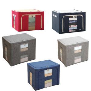 Large-80L-160L-Foldable-Storage-Organizer-Box-Collapsible-Cube-Oxford-Fabric-USA