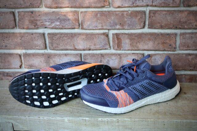 3135f1185c07e Women s Adidas Ultra Boost ST Running Athletic Shoes CQ2133 Indigo Orange  10.5