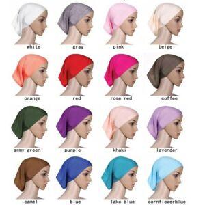 Women-039-s-Under-Scarf-Tube-Bonnet-Cap-Bone-Islamic-Head-Cover-Hijab-Hair-Wrap-Loss