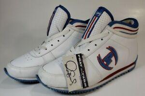Phat Farm Blue White Leather Sneakers Tennis Shoes Womens Sz 7 5 Boys 6 Eu 38 Ebay