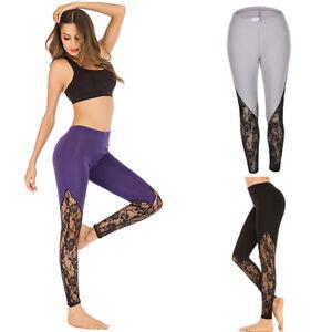 Women Yoga Pants Fitness Leggings Ladies Running Gym Exercise Sports Trousers