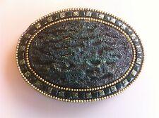 Schöne Gürtelschnalle für Damen - mit Ornament - links oben beschädigt