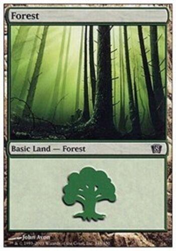20 Basic Land #348 - SAME ART - Forest - 8th Edition - MP-NM - Magic MTG FTG