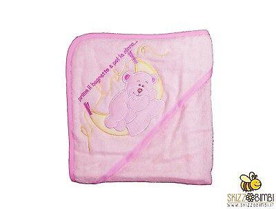 Accappatoio Neonato Rosa Baby Spugna Fabbricazione Abile
