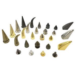 100pcs-Cone-Spots-Metal-Alloy-Punk-Stud-Spike-Rivet-For-Leathercraft-DIY-4-Color