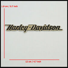 Part For Harley Davidson Straight Letter 3D Metal Chrome Tank Fender Emblem