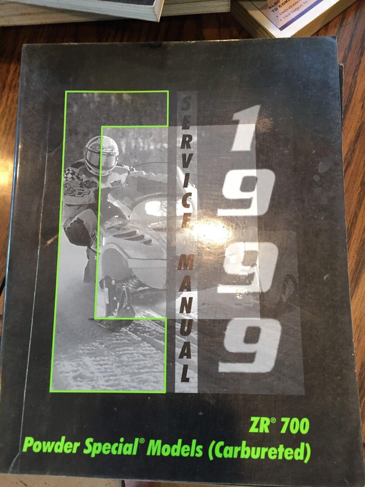 1999 Arctic Cat  ZR700 Powder Spec Models Carbureted Service Manual PN  2255-940  choose your favorite