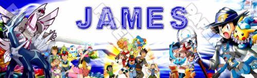 "Cartoon Pokemon Poster 30/"" x 8.5/"" Personalized Custom Name Painting Printing"