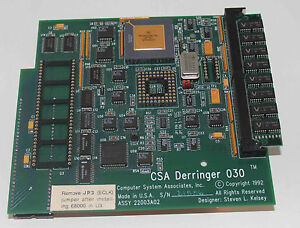 Amiga 500/2000, Turbo Carte Csa Derringer 030, Neuve, 68030/50 Mhz, 16 Mo Ra-afficher Le Titre D'origine