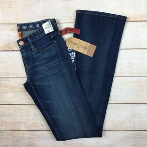 $158 Earnest Sewn Keaton SLIMMING Soft Women/'s Bootcut Stella Dark Jeans 24 XXS