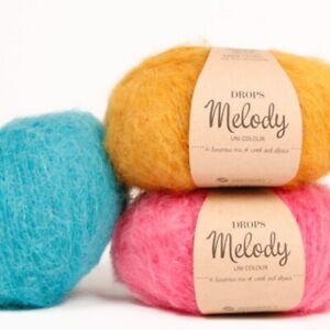 DROPS-MELODY-Chunky-fluffy-71-Superfine-ALPACA-25-MERINO-wool-yarn-50g