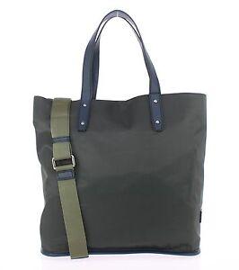 NWT  1100 DOLCE   GABBANA Mens Green Nylon Blue Leather Gym Travel ... 0ccd477db8571