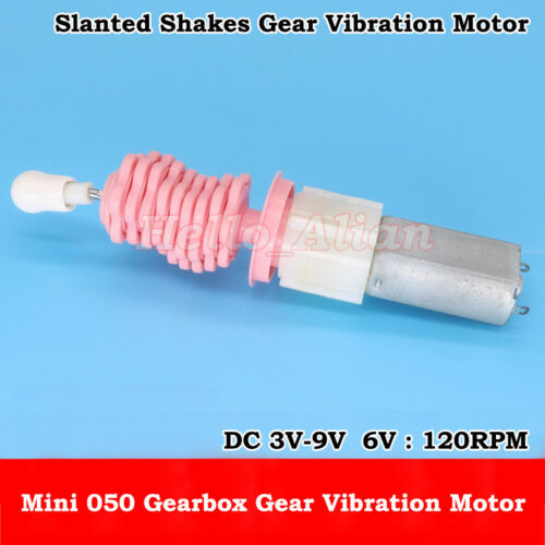 050 Gear Motor DC 3V-9V 6V 120RPM Slow Speed Mini Gearbox Gear Vibration Motor