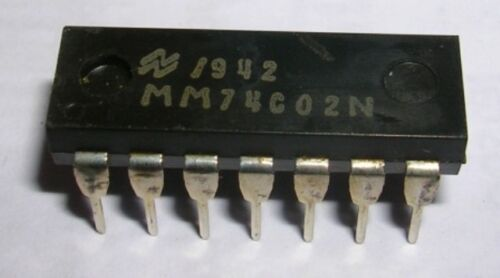 MM74C02N Quad 2 input NOR gate PDIP14   FIN DE STOCK