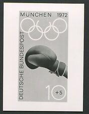 """BUND FOTO-ESSAY 719/722 OLYMPIA 1972 UNVERAUSGABTER WERT """"BOXEN"""" PROOF!! e122"""