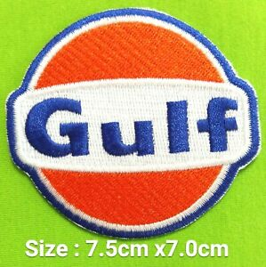 Gulf Oil Motors Logo Embroidery Iron On Sewing On Patch On Decorate On Fabrics Ebay