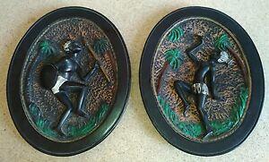 Quadri in rilievo in gesso soggetto africano, B. Lotti | eBay