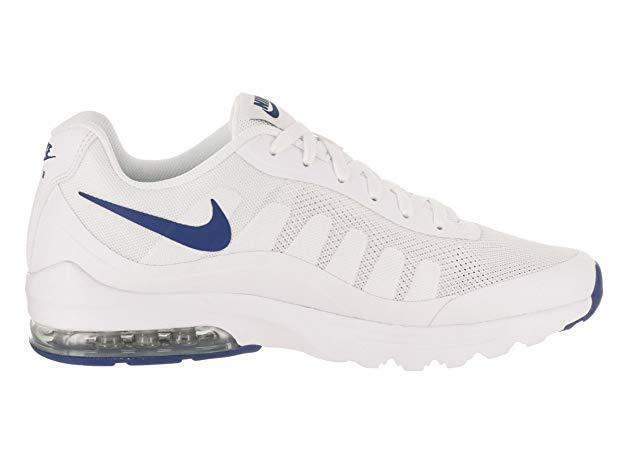 In box NEW NIKE WHITE  AIR MAX INVIGOR 749680-101 MEN SIZE 10 blueeE AND WHITE