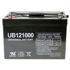 Upg 12v 100ah Sla Agm Battery For Minn Kota Trolling Motor