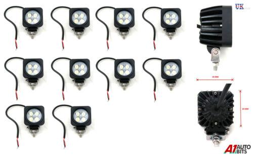 10X 12//24V Square 4 LED Work Light Spot Beam Lamp Forklift Tracktor Backhoe