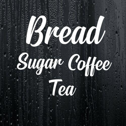 Bread Coffee Sugar Tea Kitchen Jar Sticker Decal Mrs Hinch