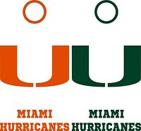 Miami Hurricanes Cornhole Board Decal Set Of 6 Vinyl Decals 6 Piece Sticker Kit