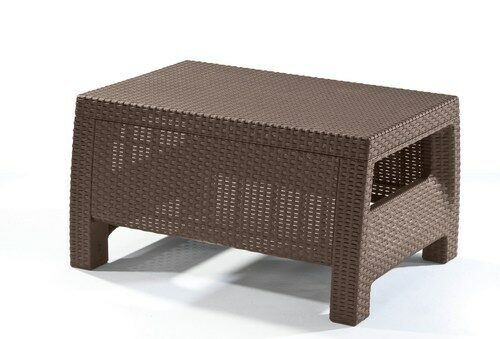 Keter Corfu Ottomans/Table Patio Outdoor Furniture All Weather Waterproof, New