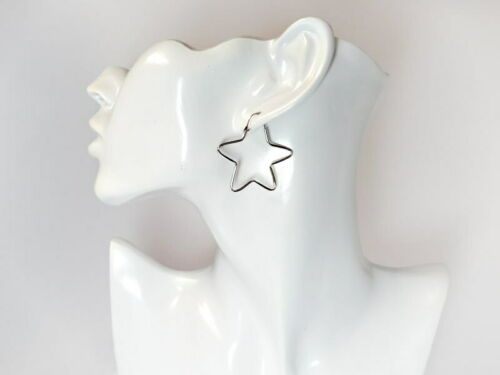 Creolen Siber 925 Ohrringe Sterne Sterlingsilber so84