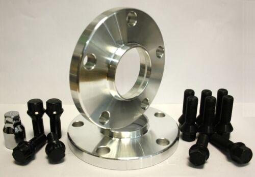 2 x 20 mm Distanziatori Ruota Hubcentric Distanziatori in Lega Nero Bulloni /& Perni di bloccaggio