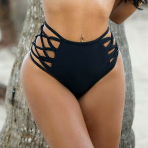 7f91f8cfcbf Details about Ladies High Waisted Bikini Tankini Bottoms Swim Briefs  Swimming Pants Bathing AP