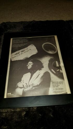 Robert Palmer Early In The Morning Rare Original Radio Promo Poster Ad Framed!