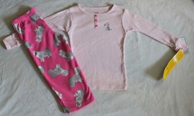 Dutiful New~carters 2pc Toddler Girl Pink Dog Pajamas Size 2t Clothing, Shoes & Accessories Baby & Toddler Clothing