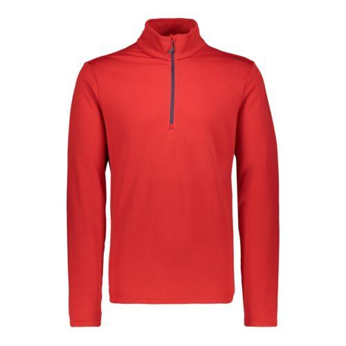 CMP Fleecepullover Pulli MAN SWEAT rot atmungsaktiv elastisch wärmend Unifarben