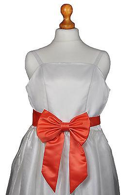 Ladies / Girls Bridesmaid Flowergirl Formal Party Wedding Sash for Dress