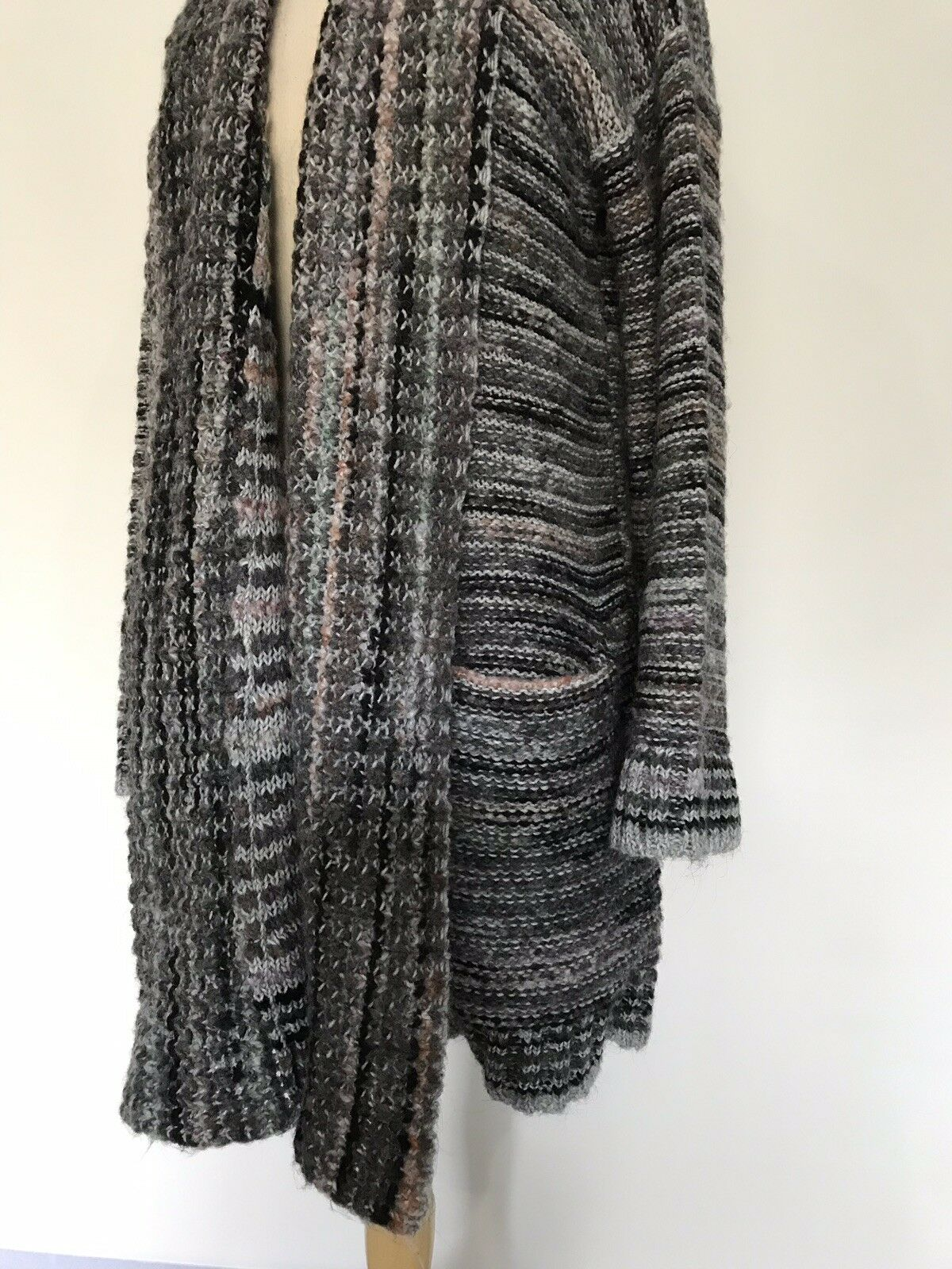 NEW Anthropologie Multi Alpaca Wool Cardigan Sweatercoat Size Size Size Large Sweater Coat 1a5dee