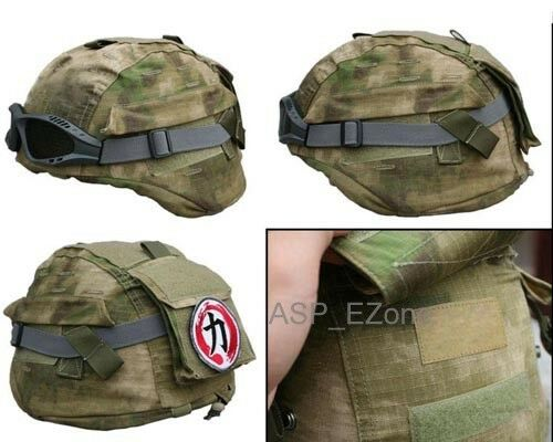 MICH 2000 Ver2 Tactical Helmet Cover for Outdoor Military  Helmet A-TACS FG