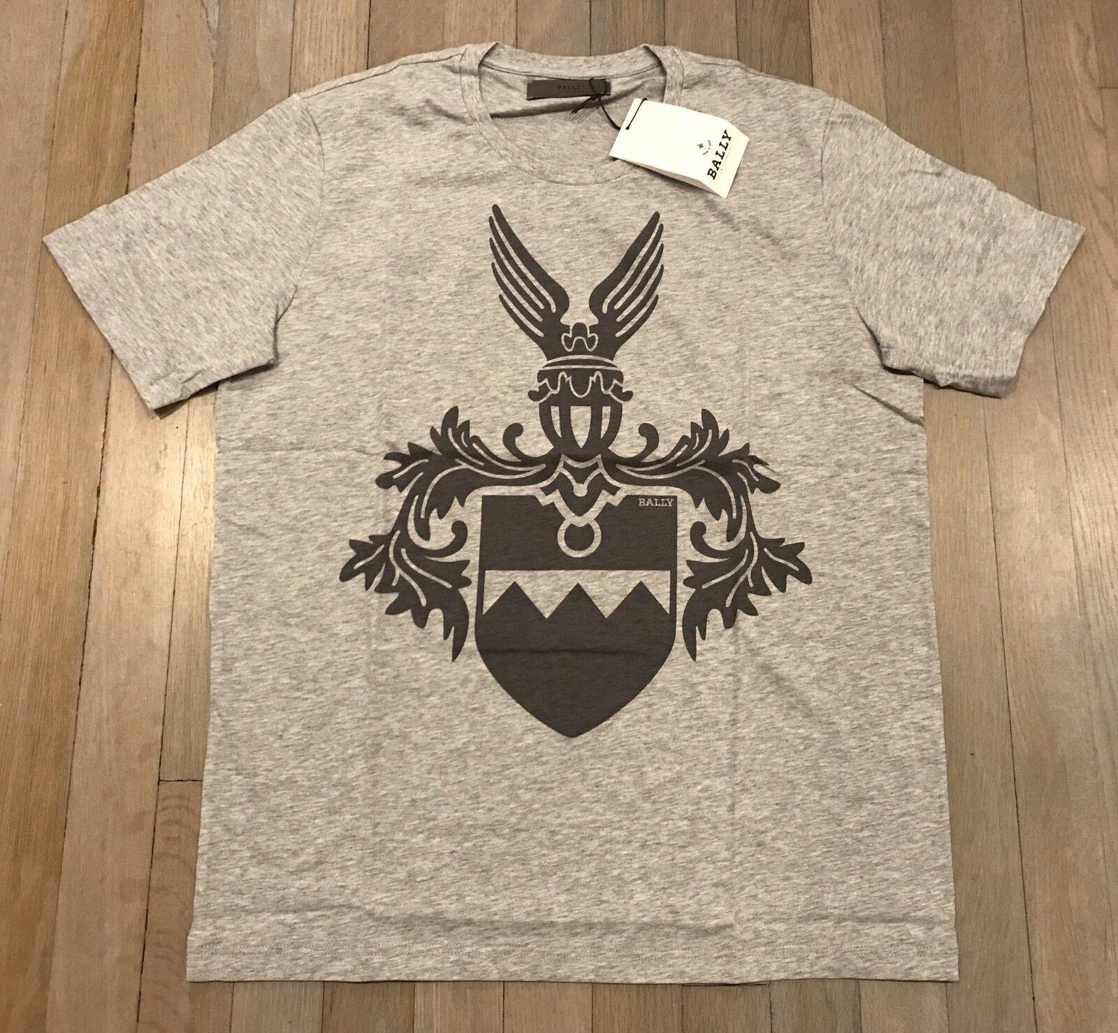 422 Bally grau Cotton T-shirt Größe XL, EU 54, Made in