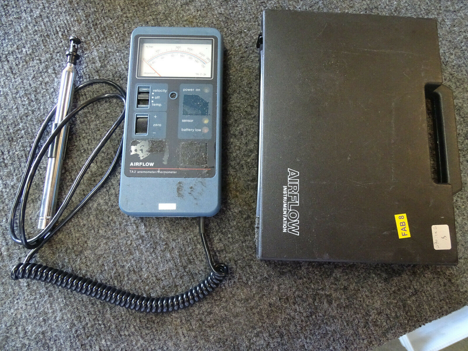 Airflow Thermal Anemometer Thermometer Model TA2 (tested, working)