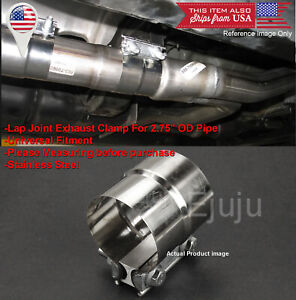 """Stainless Lap Joint Exhaust Clamp Sleeve Band For BMW AUDI 2/"""" Exhaust OD Pipe"""