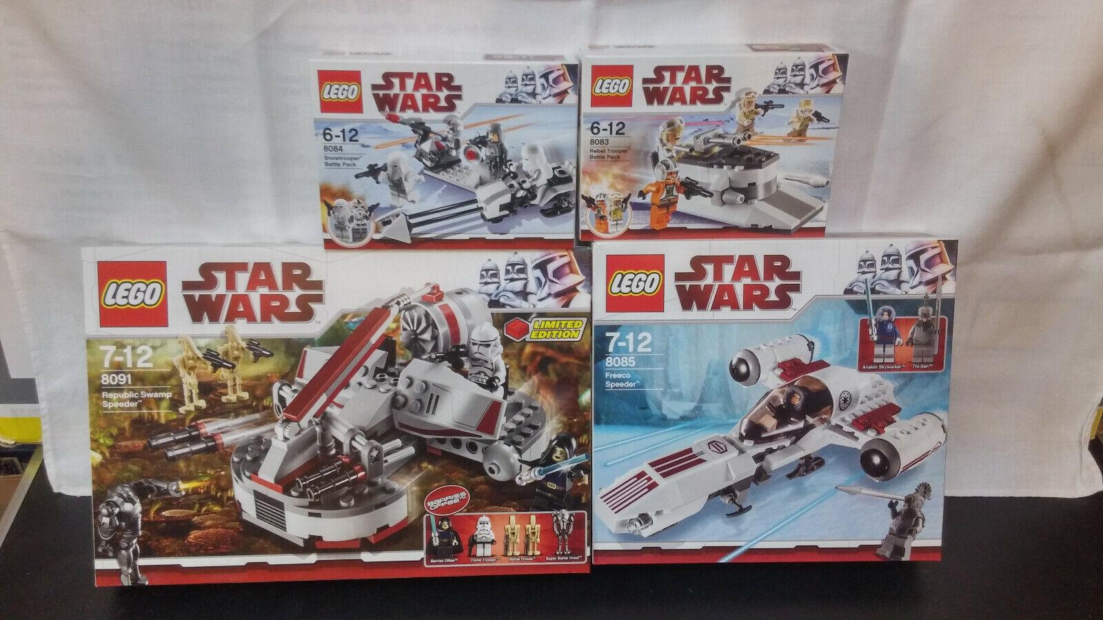 Lego Star Wars Set 8083 8084 8085 8091 alles neu und OVP tolle Figuren