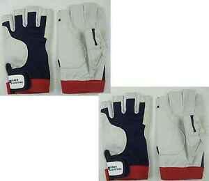 Rigging Handschuhe ohne Finger M 8 4 Paar BluePort Segelhandschuhe AMARA Gr