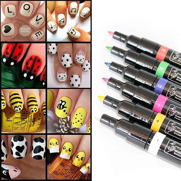 Fashion Nail Art Pen Painting Design Tool Drawing for UV Gel Polish New Q