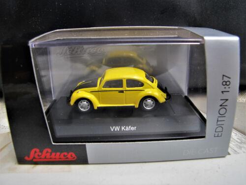 26334  NEU  2018 Schuco 1:87  VW Käfer   gelb-schwarz   Art