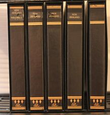 New Zealand Palo 5 Albums Premium Hingeless Pages Binders 1855-2012 Retail $1500
