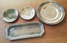 SET 2 sottobicchieri +1 piatto +1 vassoio in ARGENTO 800 vintage silver dish