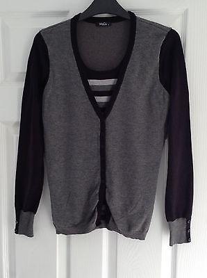 Ladies M&Co Black And Grey Cardigan Size Small | eBay