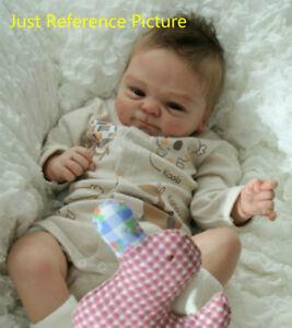 Handmade Unpainted Vinyl Silicone Reborn Lifelike DIY Baby Dolls Mould Model