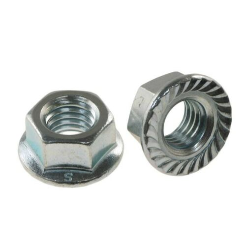 M8-1.25mm Metric flange nuts serrated Stainless steel 18-8 A-2 10 pcs